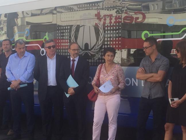 Mise en service de deux bus hybrides à  Bastia