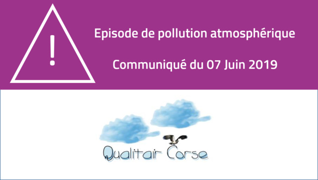 Pollution atmosphérique : particules en suspension (PM10)  - 7 juin 2019