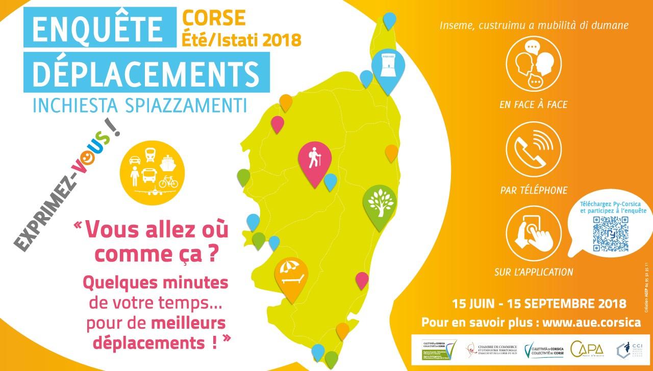 Enquête déplacements en Corse: 15 juin-15 septembre 2018