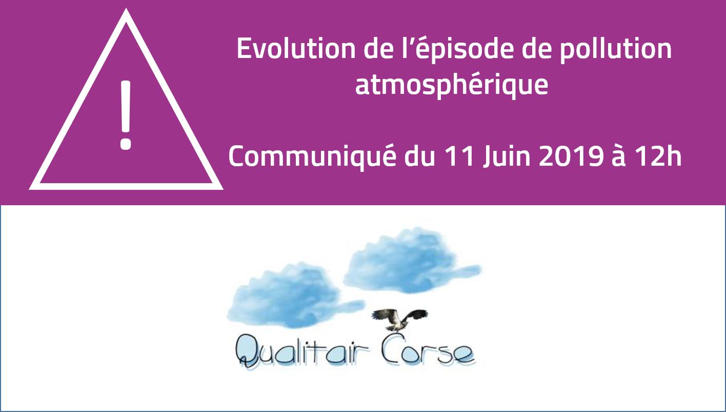 Evolution de l'épisode de pollution atmosphérique