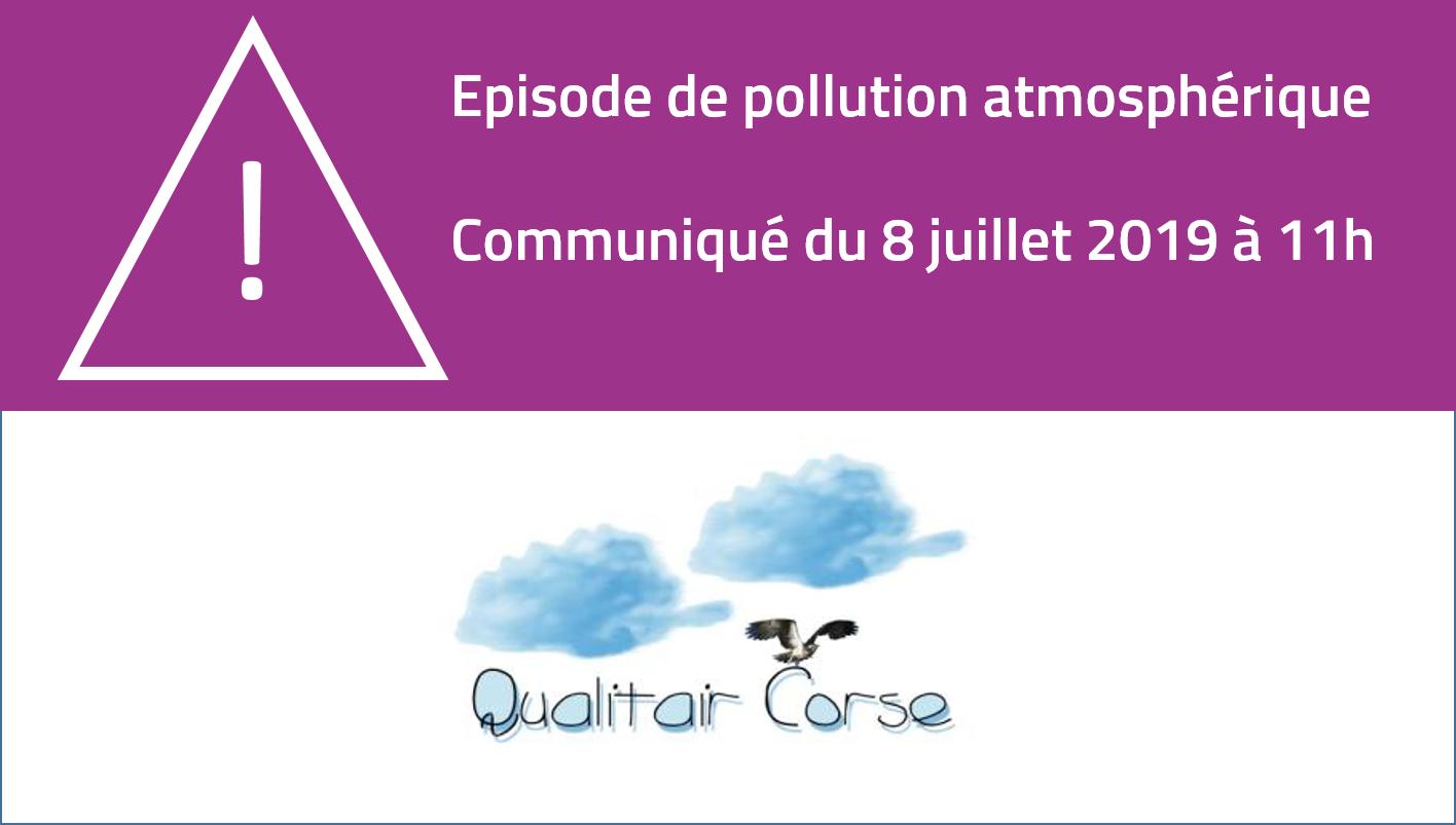 Episode de pollution atmosphérique du 8 juillet 2019