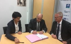 Signature de la convention locale de la MSAP entre l'AUE et La Poste en présence du Ministre de l'Aménagement du territoire, de la Ruralité et des Collectivités territoriales et du Président du Conseil exécutif de Corse