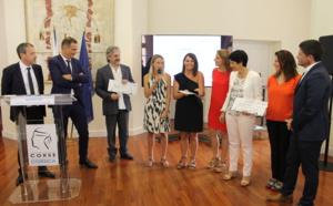 Ceremonia di premiazione di u cuncorsu d'idee Hyperloop Ghjovi, u 29 di ghjugnu di u 2017, Aiacciu